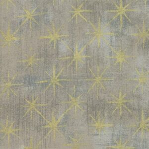 Grunge Seeing Stars Metallic By Basicgrey For Moda - Grey Couture