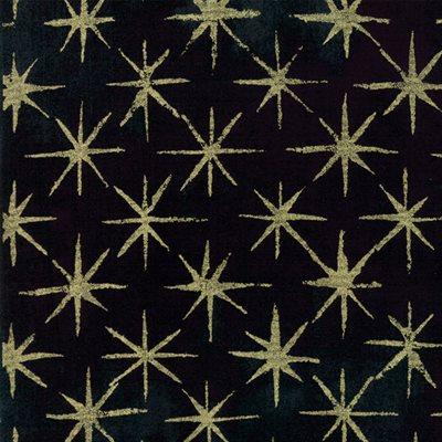 Grunge Seeing Stars Metallic By Basicgrey For Moda - Black Dress