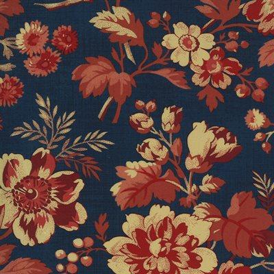Maria's Sky 1840-1860 By Betsy Chutchian For Moda - Indigo - Red
