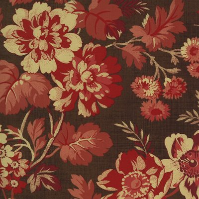 Maria's Sky 1840-1860 By Betsy Chutchian For Moda - Chocolate - Red