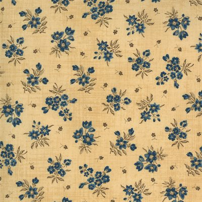 Maria's Sky 1840-1860 By Betsy Chutchian For Moda - Cream - Indigo