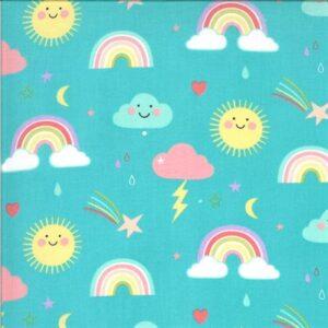Hello Sunshine By Abi Hall For Moda - Aqua