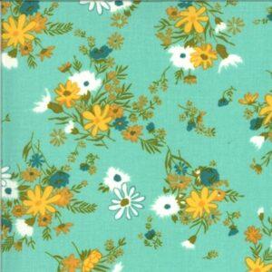 A Blooming Bunch By Maureen Mccormick For Moda - Aqua