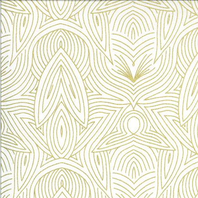 Dwell In Possibility By Gingiber For Moda - Ivory - Gold