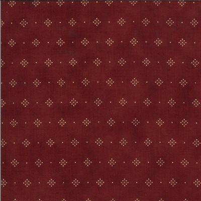 Redwork Gatherings By Primitive Gatherings For Moda - Dark Red