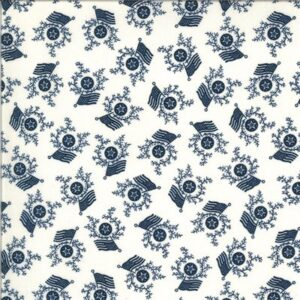 American Gatherings By Primitive Gatherings For Moda - Cream - Navy