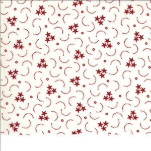 American Gatherings By Primitive Gatherings For Moda - Cream - Red