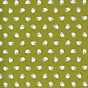 Spring Chicken By Sweetwater For Moda - Green
