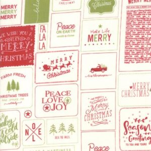 The Christmas Card By Sweetwater For Moda - Red-Green