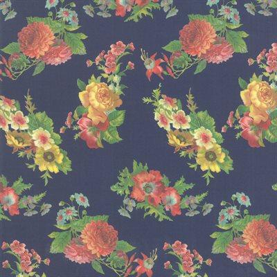 Flea Market Mix Digital By Cathe Holden For Moda - Navy