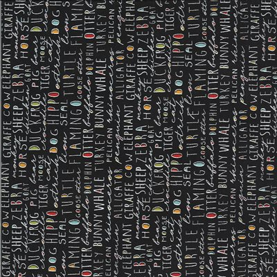 Animal Crackers By Sweetwater For Moda - Black