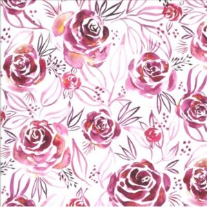 Moody Bloom By Create Joy Project For Moda - Magenta
