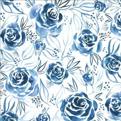 Moody Bloom By Create Joy Project For Moda - Indigo