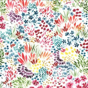 Moody Bloom By Create Joy Project For Moda - White - Multi