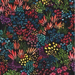 Moody Bloom By Create Joy Project For Moda - Black