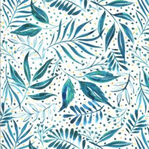 Moody Bloom By Create Joy Project For Moda - Teal