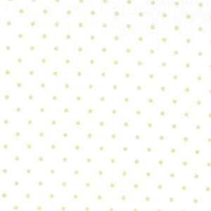 Essential Dots By Moda - White/Spring Green