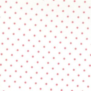 Essential Dots By Moda - White/Peony
