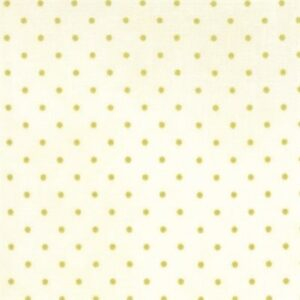 Essential Dots By Moda - White/Moss