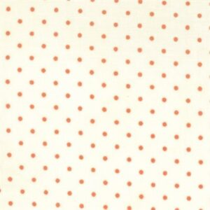 Essential Dots By Moda - White/Coral