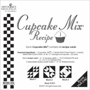 Cupcake Mix Recipe 1 Paper Piecing By Moda - Packs Of 6