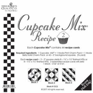 Cupcake Mix Recipe 2 Paper Piecing By Moda - Packs Of 6