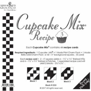 Cupcake Mix Recipe 3 Paper Piecing By Moda - Packs Of 6