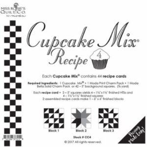 Cupcake Mix Recipe 4 Paper Piecing By Moda - Packs Of 6