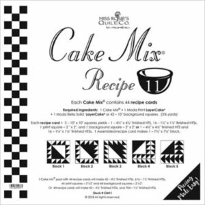 Cake Mix Recipe 11 Paper Piecing By Moda - Packs Of 4