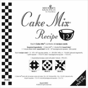 Cake Mix Recipe 12 Paper Piecing By Moda - Packs Of 4