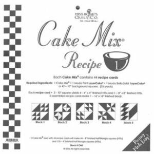 Cake Mix Recipe 1 Paper Piecing By Moda - Packs Of 4