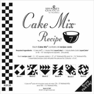 Cake Mix Recipe 7 Paper Piecing By Moda - Packs Of 4