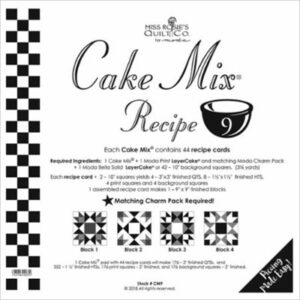 Cake Mix Recipe 9 Paper Piecing By Moda - Packs Of 4
