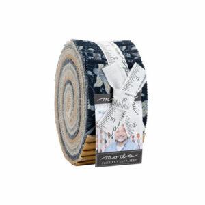 Regency Sumerset Blues Jelly Rolls By Moda - Packs Of 4