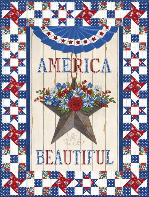 America The Beautiful /Sea To Shiring Sea Kit By Deb Strain For Moda