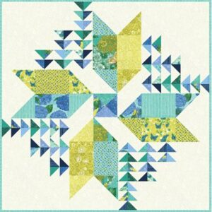 Cottage Blue - Wind Drifter Kit By Robin Pickens For Moda