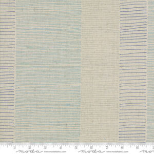 Breeze/Mochi Linen By Zen Chic For Moda - Flax - Blue
