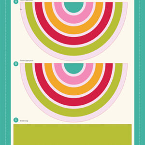 "Cut Sew Create Packaged Digital Panel By Moda - Rainbow Zipper Pouch 16"" X 13.5\' Min. Of 4"