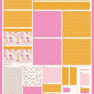 "Cut Sew Create Packaged Digital Panel By Moda - Sewing Caddy 53"" X 43\' Min. Of 4"