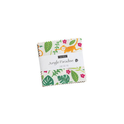 Jungle Paradise Mini Charm Packs By Moda - Packs Of 24