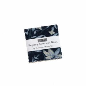Regency Sumerset Blues Mini Charm Packs By Moda - Packs Of 24