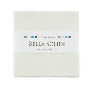 Bella Solids Charm Packs - Porcelain - Packs Of 12