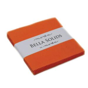 Bella Solids Charm Packs - Orange - Pack Of 12