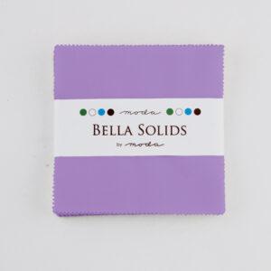 Bella Solids Charm Packs - Hyacinth -  Packs Of 12