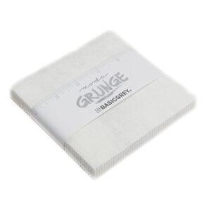 Grunge Charm Packs - White Paper - Packs Of 12
