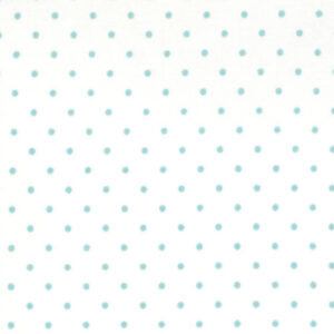 Essential Dots By Moda - White/Teal