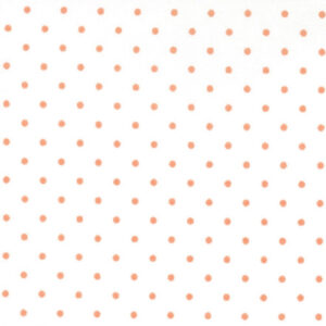 Essential Dots By Moda - White/Tangerine