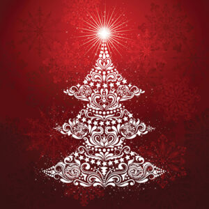 Gradients Holiday Christmas Tree Packaged Digital Panel - Ruby - Min Of 2