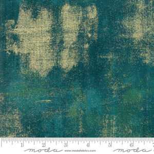 Grunge Metallic By Basicgrey For Moda - Dark Jade