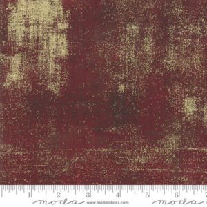 Grunge Metallic By Basicgrey For Moda - Burgundy